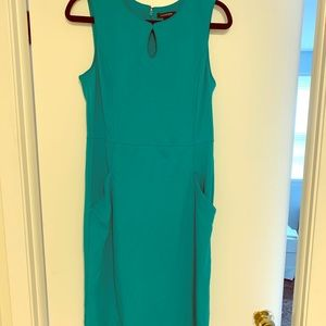 Teal sleeveless Land's End dress